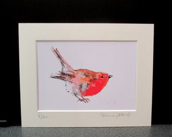 Robin.... Art print from an Original painting by Suzanne Patterson.Pop art style