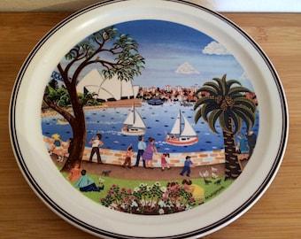 Vintage collectible Villeroy and Boch SCENES OF AUSTRALIA No1 Sydney Harbour plate N Wildman