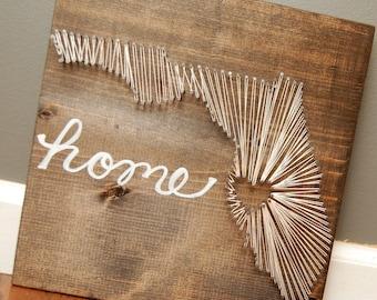 Customized Florida String Art, Nail Art, Home Art, Housewarming gift, holiday gift, Thread Art, Home