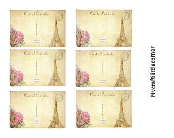 Vintage Postcards digital print  INSTANT DOWNLOAD