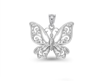 Sterling Silver Butterfly Charm, butterfly charm, silver butterfly, butterfly jewelry