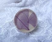 Mosaic Ring size 7 Purple Leaf Resin Ring Mosaic Resin Ring Woodland Resin Ring Terrarium Jewelry Purple Mosaic Ring Real Skeleton Leaf Ring