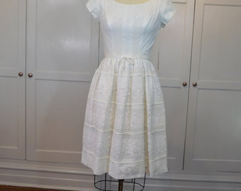 60's Lou-Ette of California Dreamy White Summer Dress VNWT