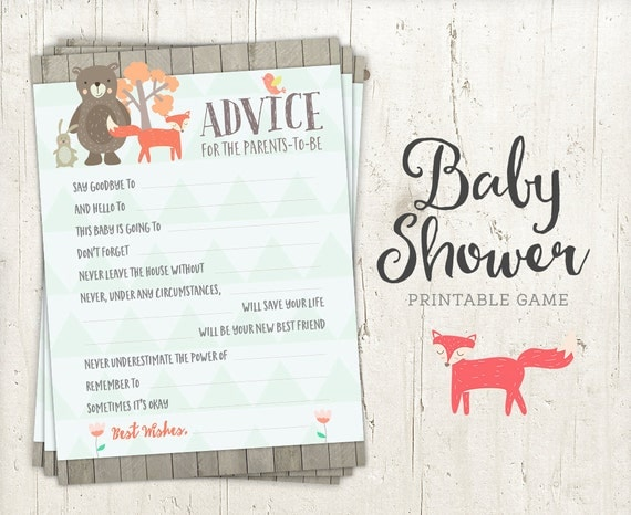 baby shower games - advice for parents