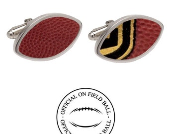 Authentic Football Cufflinks - Made with an Official On Field Football