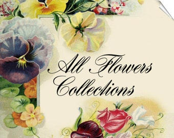 ALL FLOWERS Collections with 32 000 vintage pictures of Roses Orchids Cacti digital download old printable illustrations wholesale discount
