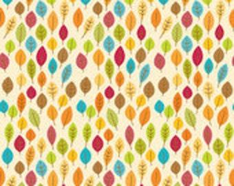 Riley Blake Designs Fabric Harvest Leaves Cream C4032--1/2 yard