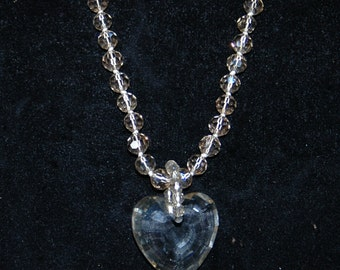 Beautiful Glass Heart Beaded Necklace