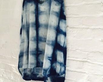 Hand dyed sleeveless tunic
