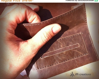 Cij SALE Rolling tobacco pouch-Rolling pouch-rolling tobacco-rolling tobacco case-brown-tobacciana-street style