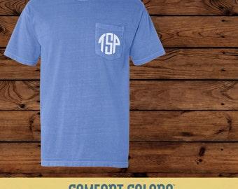 Comfort Colors Monogram Short Sleeve Tshirt