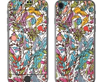 Floral Doodle by Sanctus - iPhone 7/7 Plus Skin - Sticker Decal