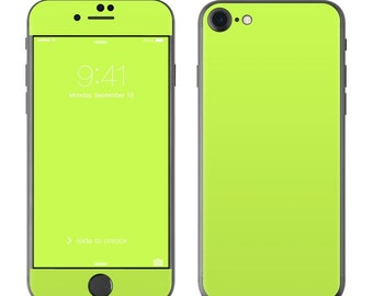 Solid Lime - iPhone 7/7 Plus Skin - Sticker Decal