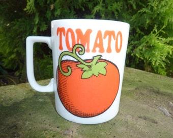 Vintage Tomato Coffee Mug Japan