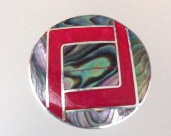Abalone shell Brooch