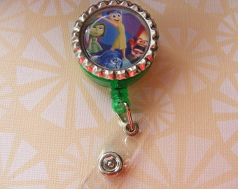 Inside out badge reel, id holder in green