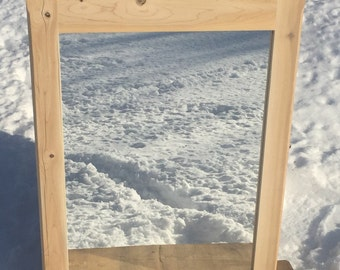 Rustic Mirror Made of Northern White Cedar