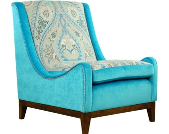 Stunning McKenzie Nizam chair embroidered fabric