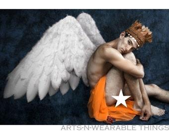 "Fantasy Photography ""Angel King"" 13x19 bordered photo print"