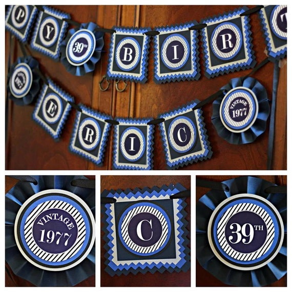 40th BIRTHDAY PARTY BANNER Milestone Birthday Party Decorations