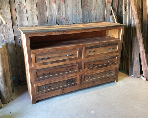 reclaimed barn wood 6 drawer dresser bedroom furniture