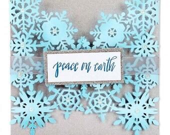 New! Sizzix Thinlits Die - Snowflake Card by Sharyn Sowell 661547