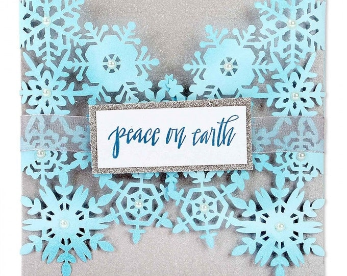 New! Sizzix Thinlits Die - Snowflake Card by Sharyn Sowell 661547