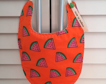 Reversible Bibs | Watermelon Wedges [Bib #30]