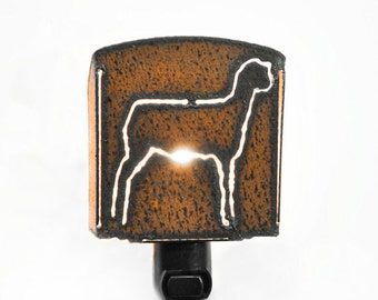 Lamb Sheep night light made out of rusted metal