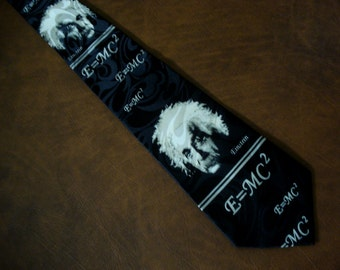 Albert EINSTEIN Tie Men's Necktie e=mc2 Equation Math Physics Relativity Quantum Teacher Gift Fathers Day Gift Funny
