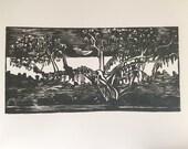 Cypress Tree - deep muddy green