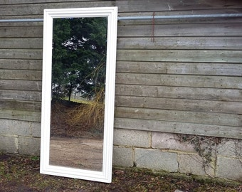 Massive Painted Shabby Chic Bevelled Mirror COLLECTION ONLY