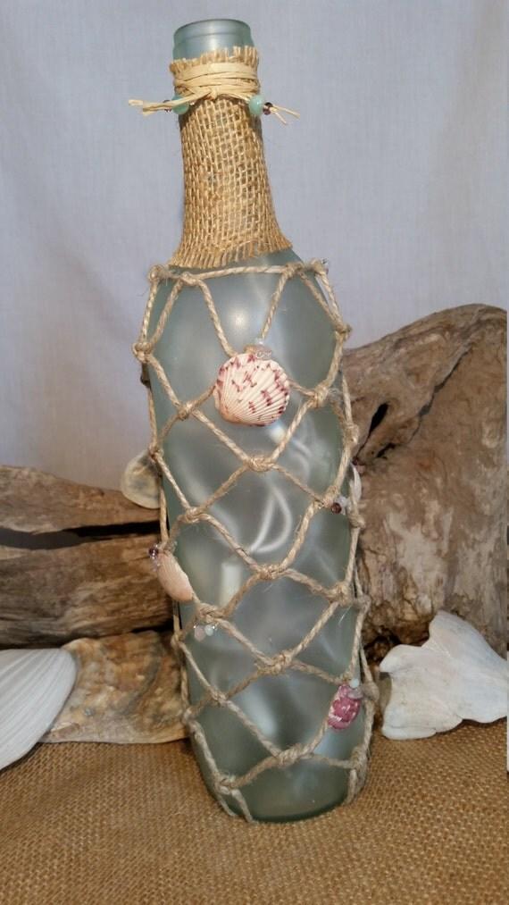 Beach themed wine bottle light beach home