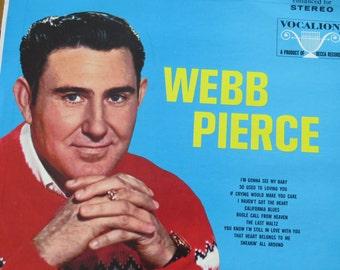 Webb Pierce - Honky tonk - vinyl LP - vinage 1950's