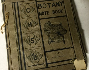 Vintage Book - 1914 Botany Schoolbook - Coldwater High School Kansas