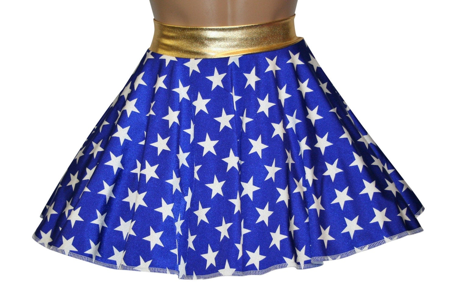 Model Wonder Woman Blue Womenu0026#39;s Skirt | SuperheroDen.com