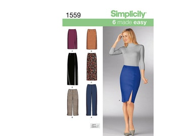 Simplicity 1599UU, Simplicity Sewing Pattern 1599UU, Misses Pants Pattern, Misses Skirt Pattern, Slim Skirt Pattern, FREE SHIP, Sz 16-22
