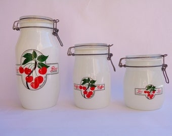 Vintage Canisters Cherry Harvest Ermetico