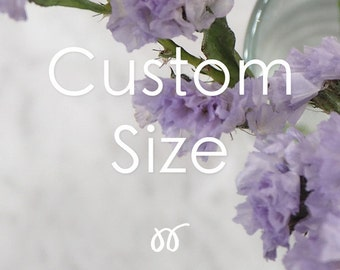 Additional listing for Custom size option.
