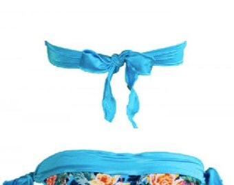 Turquoise bikini bottom