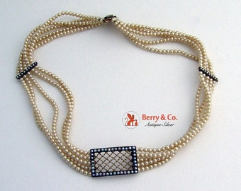SaLe! sALe! Edwardian Pearl Strand Choker Necklace 14 K Gold
