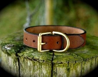 English Leather Dog Collar Luxury Dog Collar