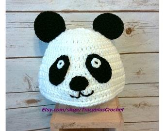Panda hat. Panda beanie. Crochet Panda hat. Crochet Panda beanie. Handmade Panda hat.