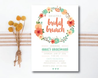INSTANT DOWNLOAD bridal luncheon invitation / bridal brunch invitation / bridesmaids luncheon invitation / bridesmaids brunch invitation