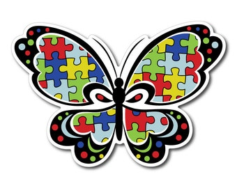 Set of Autism Awareness Sticker/Decal or Magnet