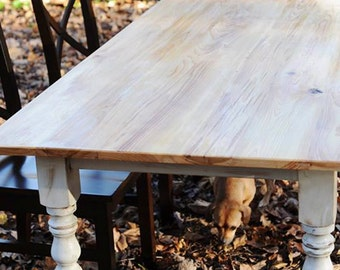 Rustic Cypress Farmhouse Dining Table