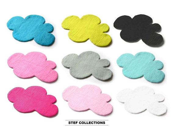 CLOUD Rug Felt Rug REGULAR size Pink Grey Kids