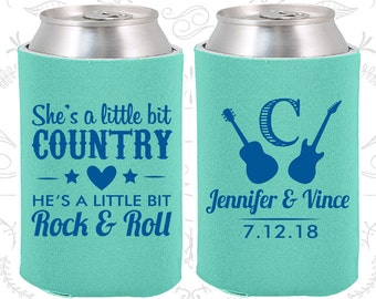 She's a Little Bit of Country, He's a little bit of Rock and Roll, Country Wedding Favors, Rock and Roll Wedding Favors (467)