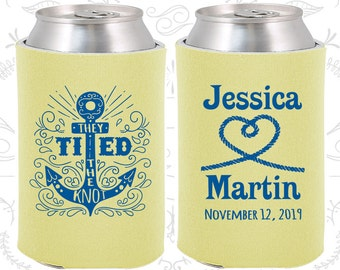 They Tied the Knot, Wedding Reception, Anchor Wedding, Nautical Wedding, Anchor Favors, Heart, Wedding Can Holders (293)