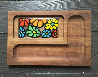 70's Retro Wooden Cheese Board